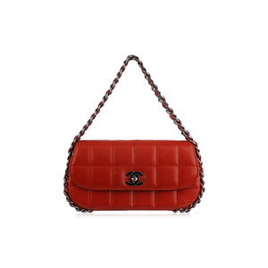 Chanel Chocolate Bar Quilted Leather Multichain Bag