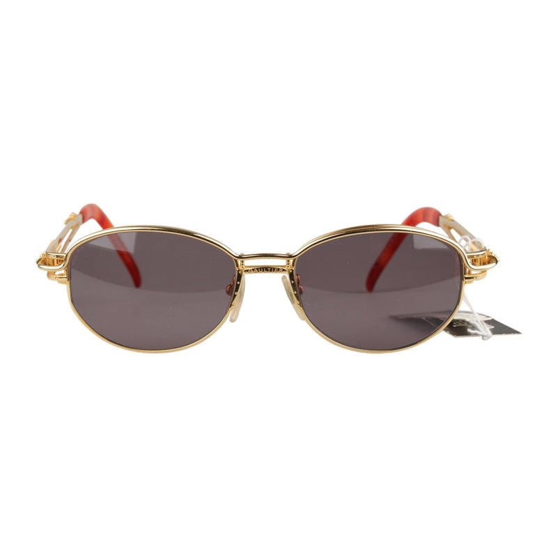 Jean Paul Gaultier Vintage Gold Oval Sunglasses 56-5203 135mm wide