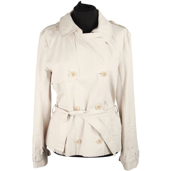 CACHAREL Beige Cotton DOUBLE BREASTED Trench Style JACKET Size 36