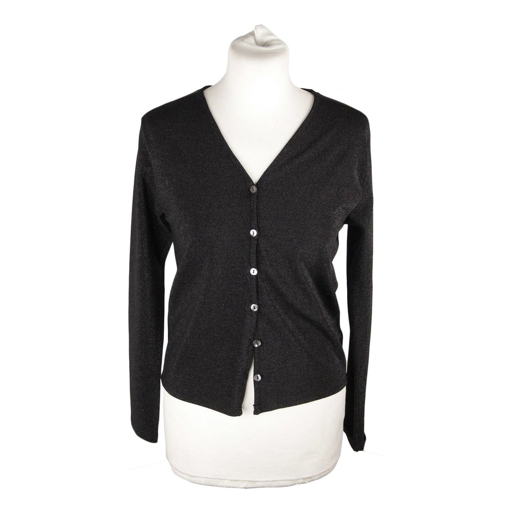 CACHAREL Black Lurex CARDIGAN Sweater SIZE 4