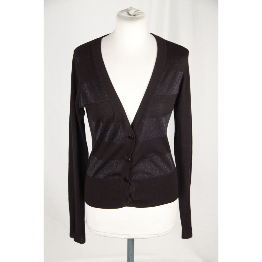 CACHAREL Black Silk Blend CARDIGAN Sweater SIZE 2