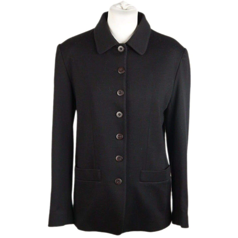 Cacharel Black Wool Blend Jacket Size 36/4 Opherty & Ciocci