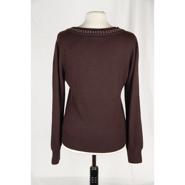 Cacharel Brown Wool Blend Long Sleeve Jumper Size 2 Opherty & Ciocci