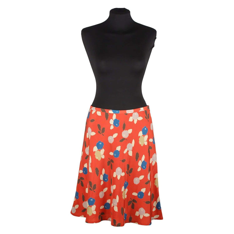 Floral Pattern A Line Skirt Size 38 Opherty & Ciocci