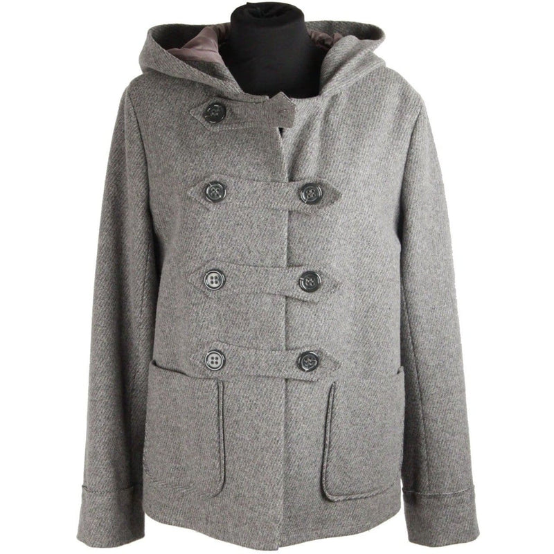 Cacharel Gray Wool & Cashmere Double Breasted W/ Hood Size 38 Opherty & Ciocci