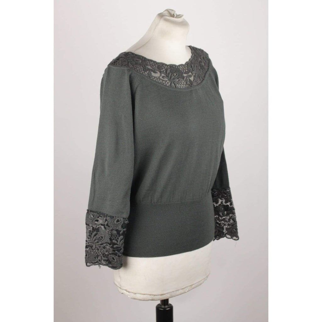 Jumper With Lace Trim Size 2 Opherty & Ciocci