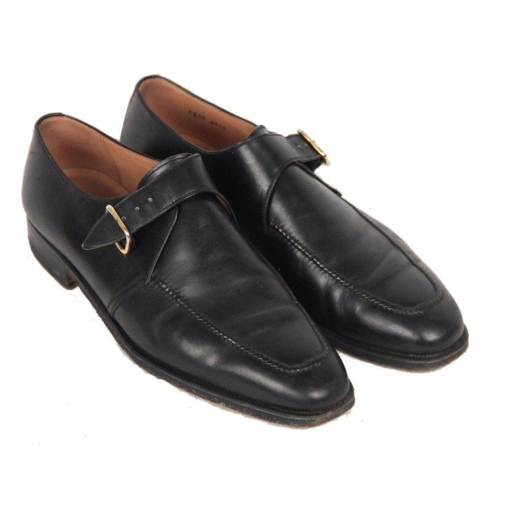 Campanile Elegant Men Black Leather Shoes Size 9.5 Opherty & Ciocci