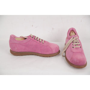 Camper Pink Suede Pelotas Sneakers Lace Up Shoes Size 35 Opherty & Ciocci