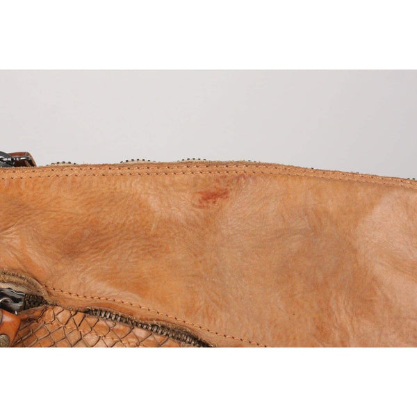 Leather Messenger Bag Asymmetrical Pocket Opherty & Ciocci