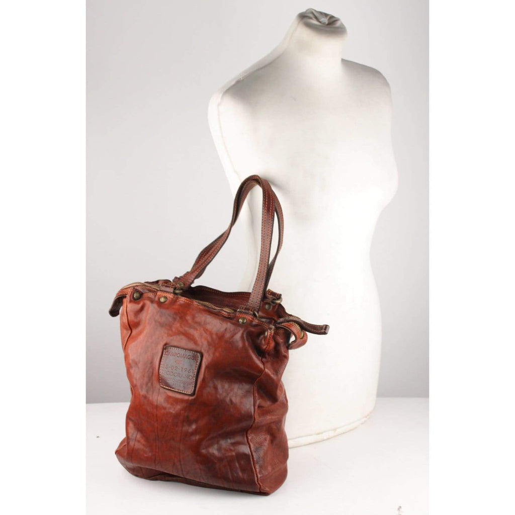 Brown Leather Tote Bag Opherty & Ciocci