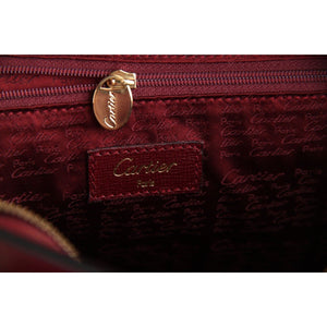 Cartier Vintage Burgundy Leather Tote Handbag Satchel Opherty & Ciocci