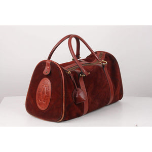 Vintage Suede Large Boston Bag Opherty & Ciocci