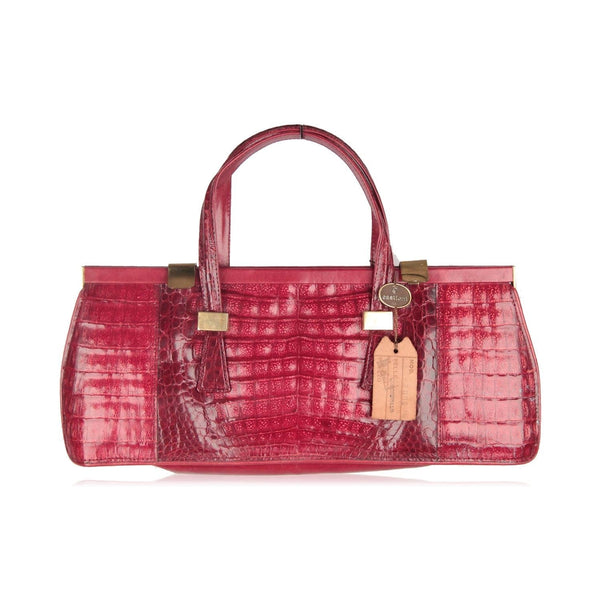 Crocodile Handbag Top Handle Bag Opherty & Ciocci