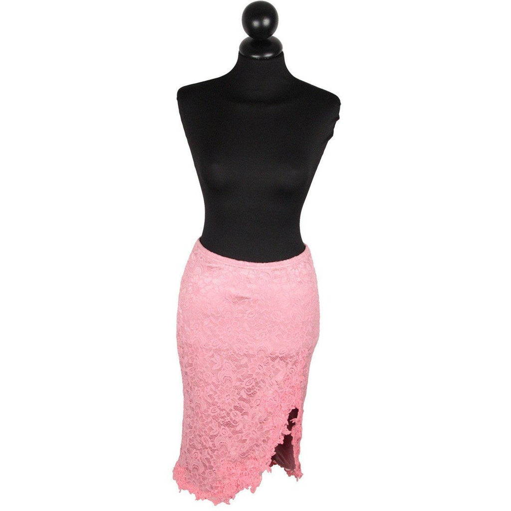 Catwalk Collection London Pink Laced Skirt One Size Opherty & Ciocci