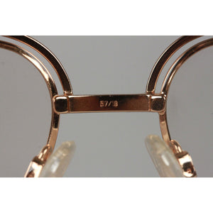 Cazal Vintage Gold Metal Eyeglasses 237 58Mm West Germany Nos Opherty & Ciocci