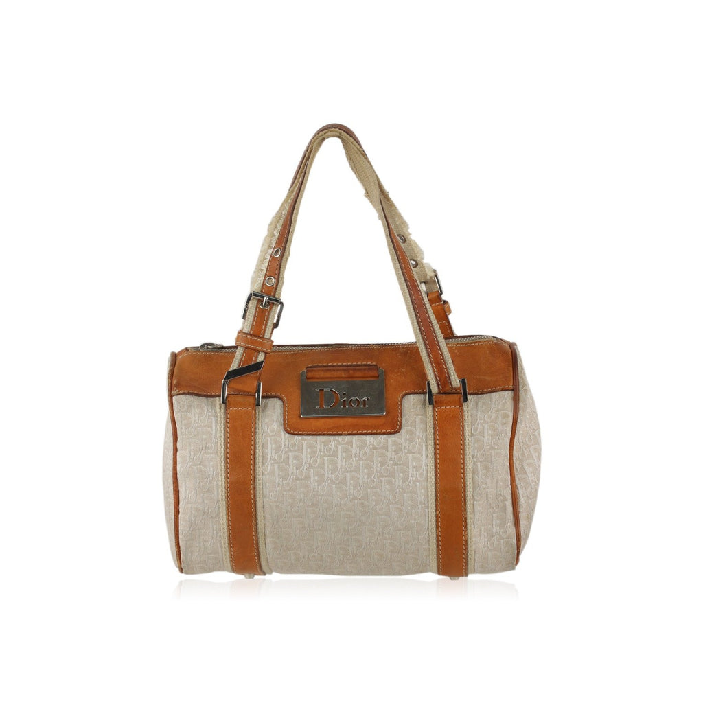 Christian Dior Diorissimo Canvas Boston Bag
