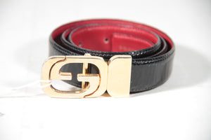Reversible Belt With Logo Buckle