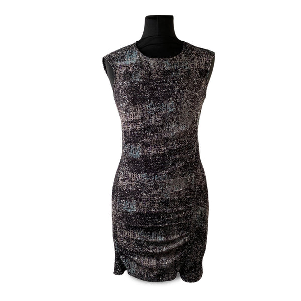 Iro Black Printed Sleeveless Helena Mini Dress Size 0