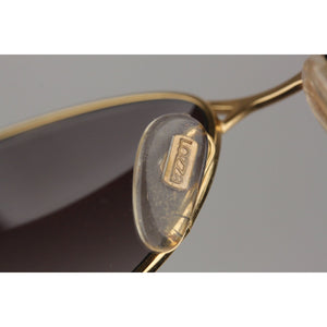 Lozza Gold Metal Cat-Eye Vintage 1980s Sunglasses LZ 1507 Gold 56mm New Old Stock