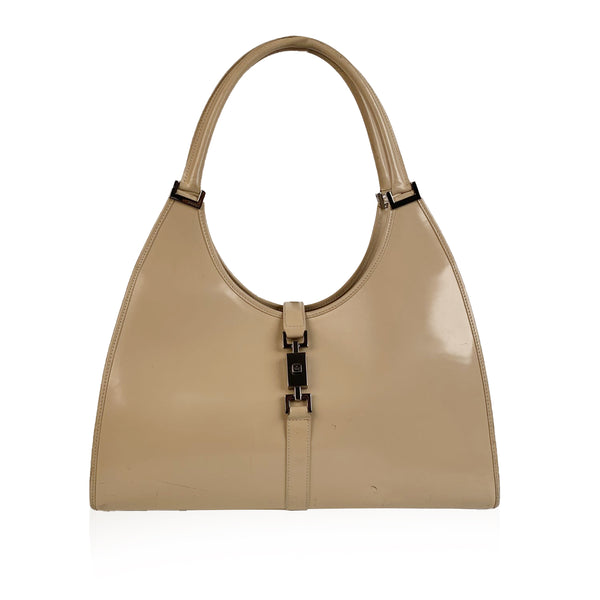 Gucci Beige Leather Bardot Hobo Bag Shoulder Bag