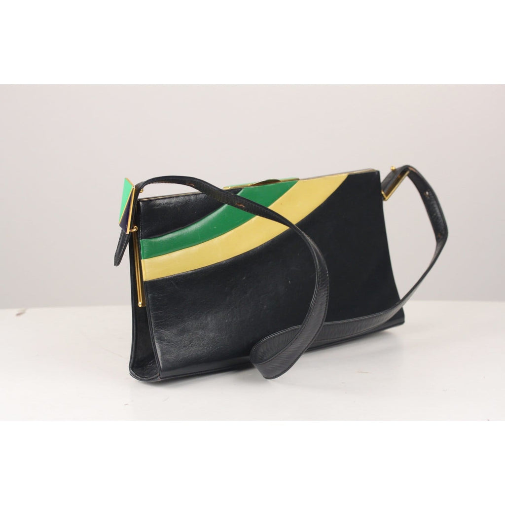 Vintage Color Block Shoulder Bag Opherty & Ciocci