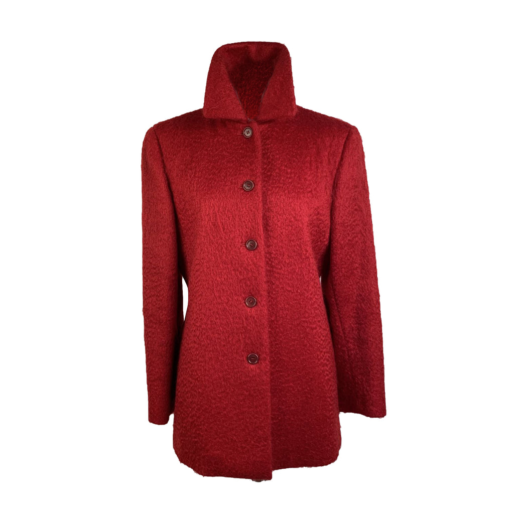 Aspesi Blu Red Wool and Mohair Jacket Size 42 IT
