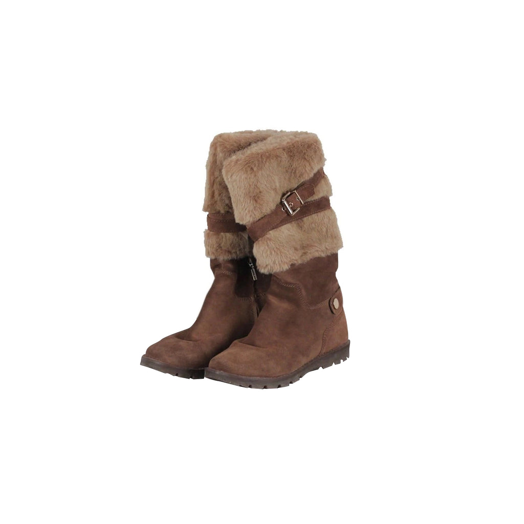 Geox Brown Suede Cheryl Boots Mid-Calf Lenght Size 38.5