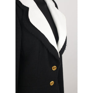 Blazer With Contrast Collar And Cuffs Size 36 Opherty & Ciocci