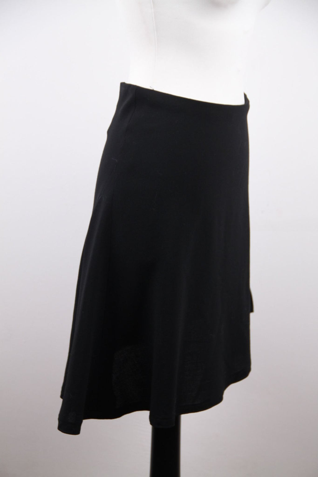 Chanel Boutique Vintage Black Wool Blend Asymmetric Mini Skirt 38 Opherty & Ciocci