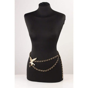Eagle Chain Necklace Or Belt With Rhinestones Opherty & Ciocci