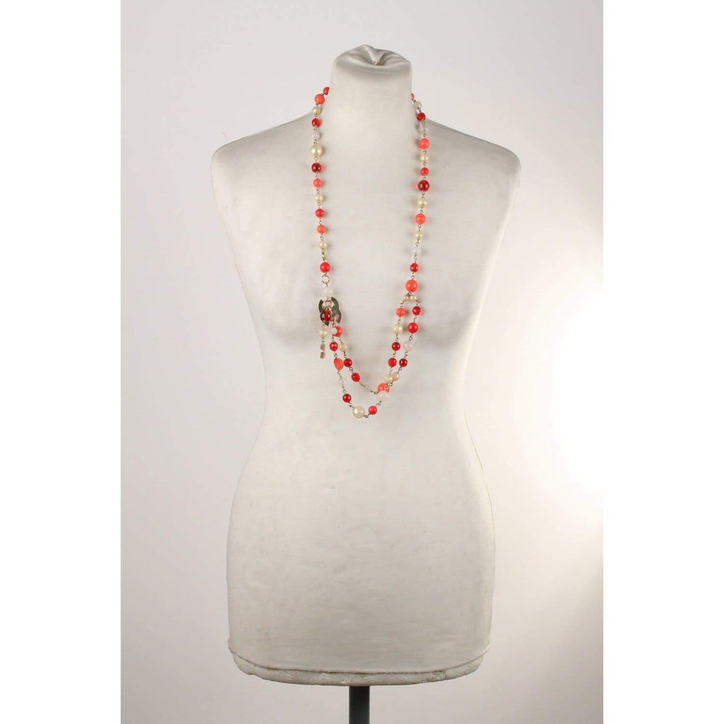 Gripoix Beads Necklace Or Belt Cc Logos Opherty & Ciocci