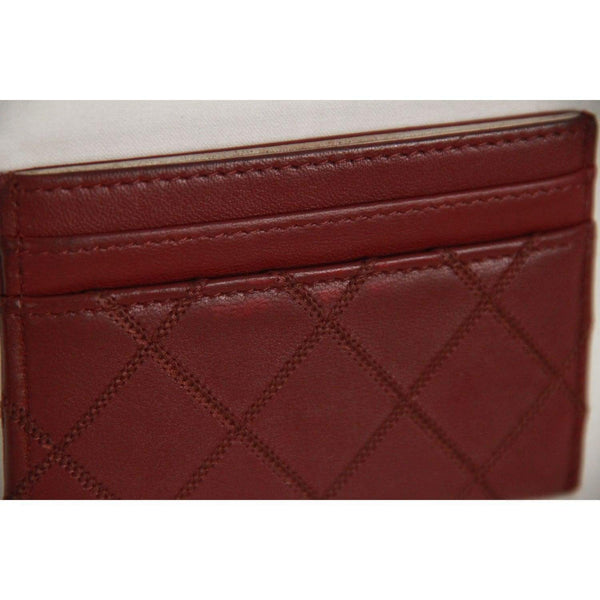 Quilted Credit Card Case Holder Cc Logo Opherty & Ciocci