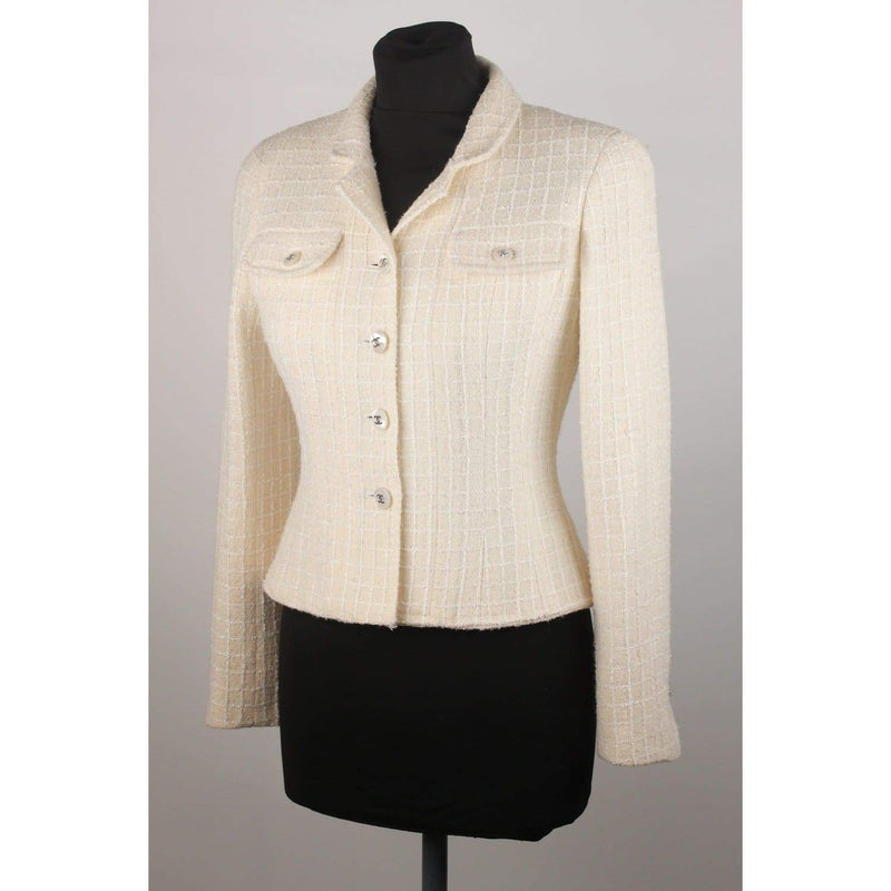 Tweed Blazer Jacket 97P Size 38 Opherty & Ciocci
