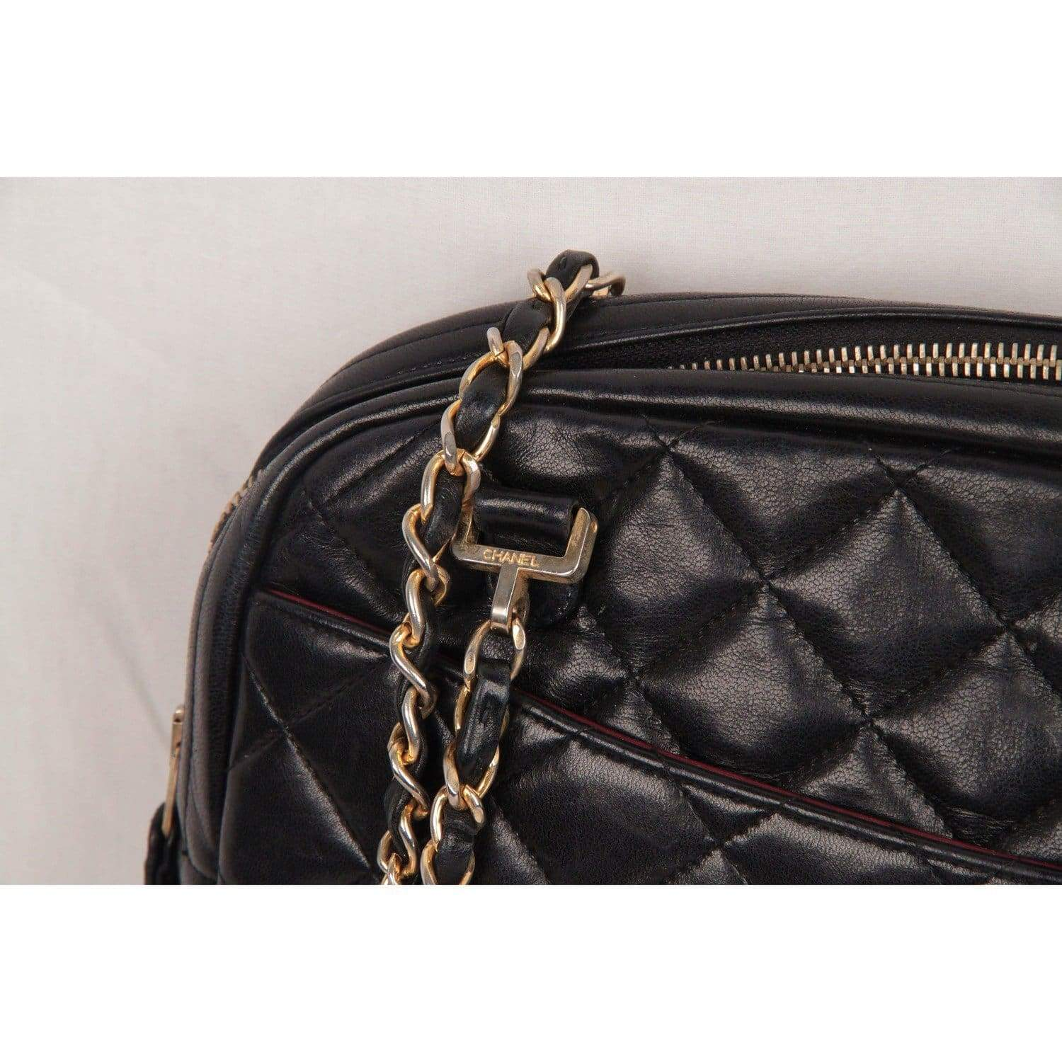 1472d6ac6b00 Opherty   Ciocci - Chanel Vintage Black Quilted Leather Large Camera ...
