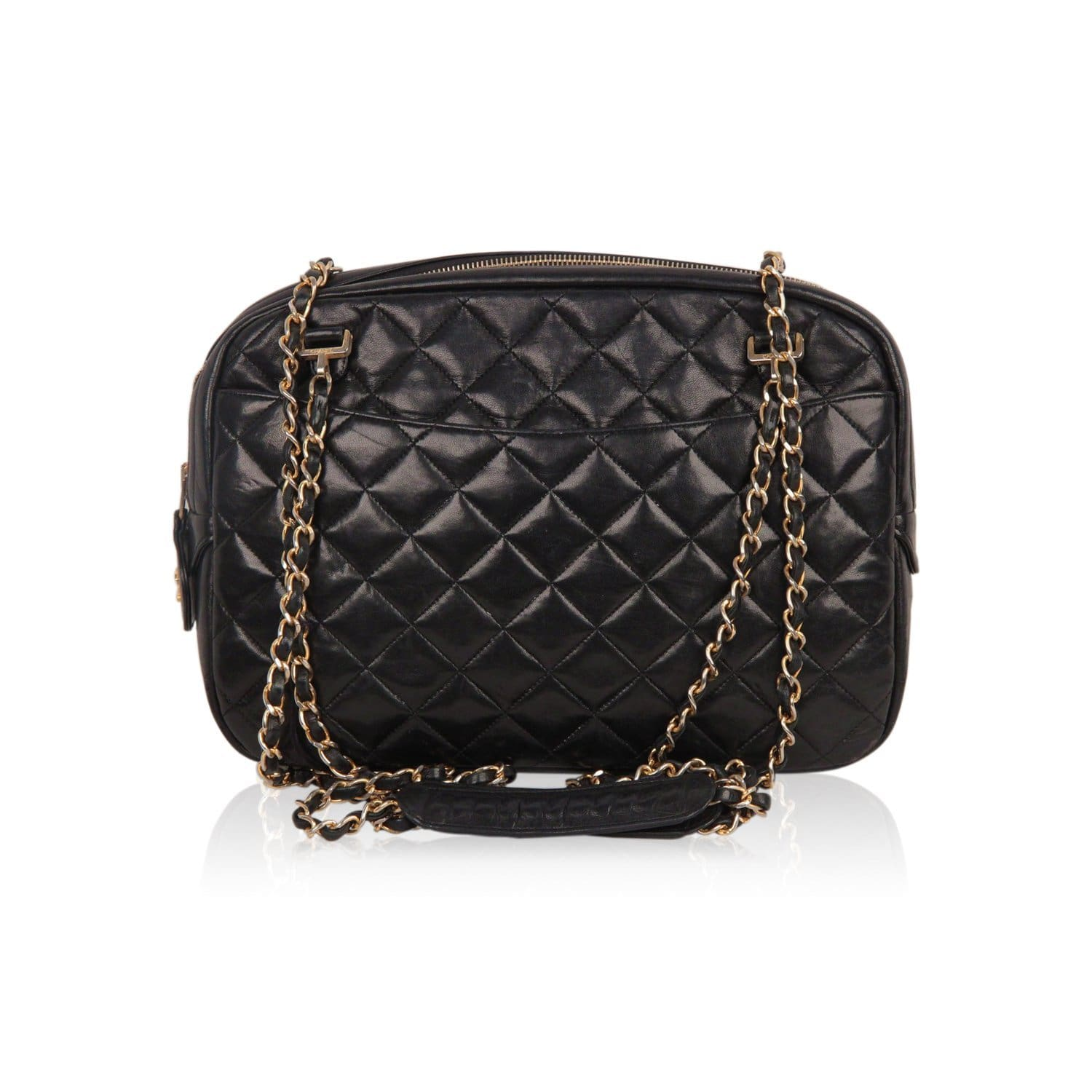 db88a192ae47 Opherty & Ciocci - Chanel Vintage Black Quilted Leather Large Camera ...