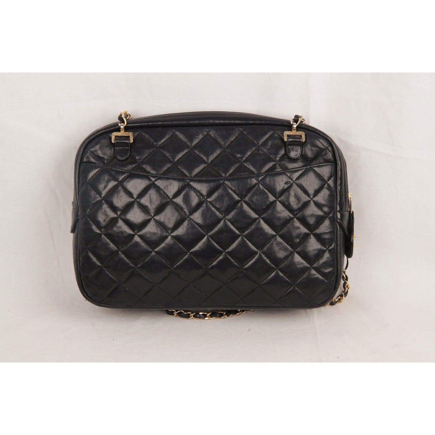 8131855886bf Opherty   Ciocci - Chanel Vintage Black Quilted Leather Large Camera ...