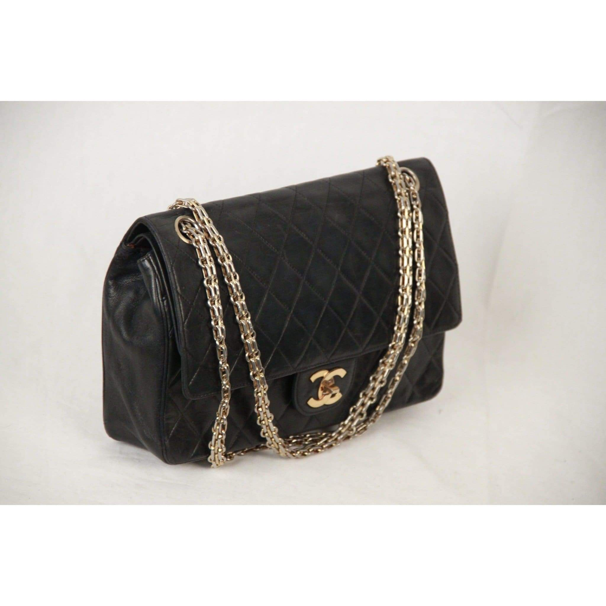 a17774d8e1db Chanel Vintage Blue Quilted Leather 2.55 Double Flap Bag Mademoiselle Chain  Opherty   Ciocci