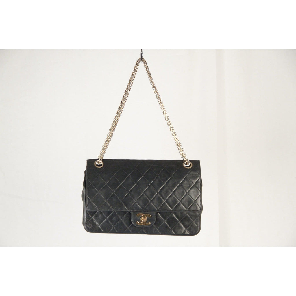 Chanel Vintage Blue Quilted Leather 2.55 Double Flap Bag Mademoiselle Chain Opherty & Ciocci