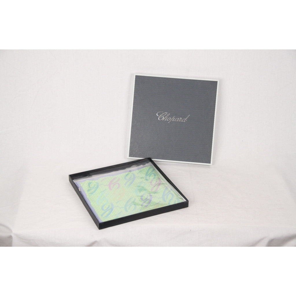 CHOPARD Light Green Silk NECK SCARF w/ BOX