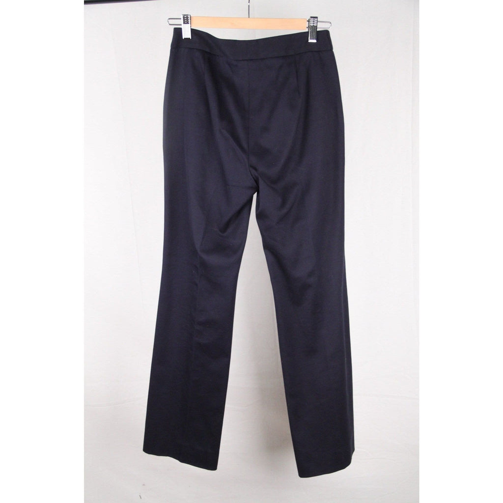 Christian Dior Blue Cotton Trousers Pants Wide Leg Size 36 Opherty & Ciocci