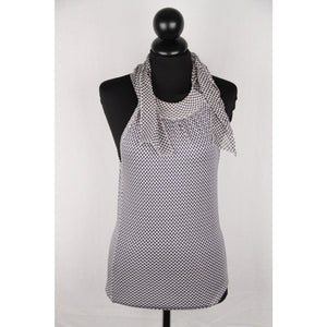 Christian Dior Polka Dot Pattern Silk Blend Halterneck Top Size 4 Opherty & Ciocci