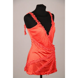 Class Roberto Cavalli Orange Viscose Top With Applications Size 40 Opherty & Ciocci