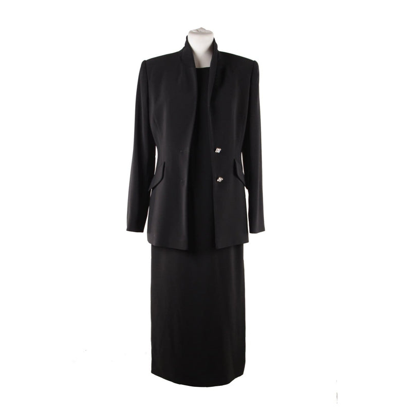 Coco Made In Italy Vintage Black Midi Sheath Dress And Blazer Dress Suit Size 42 Opherty & Ciocci