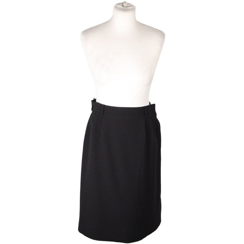Courreges Paris Hyperbole Vintage Black Straight Skirt Size Opherty & Ciocci