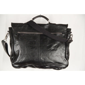 Cowboysbag Black Leather Briefcase Work Bag Opherty & Ciocci
