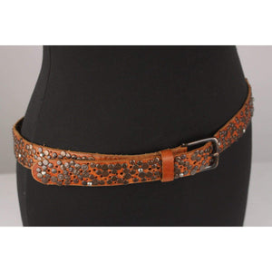 Studded And Perforated Belt 90 Cm Opherty & Ciocci