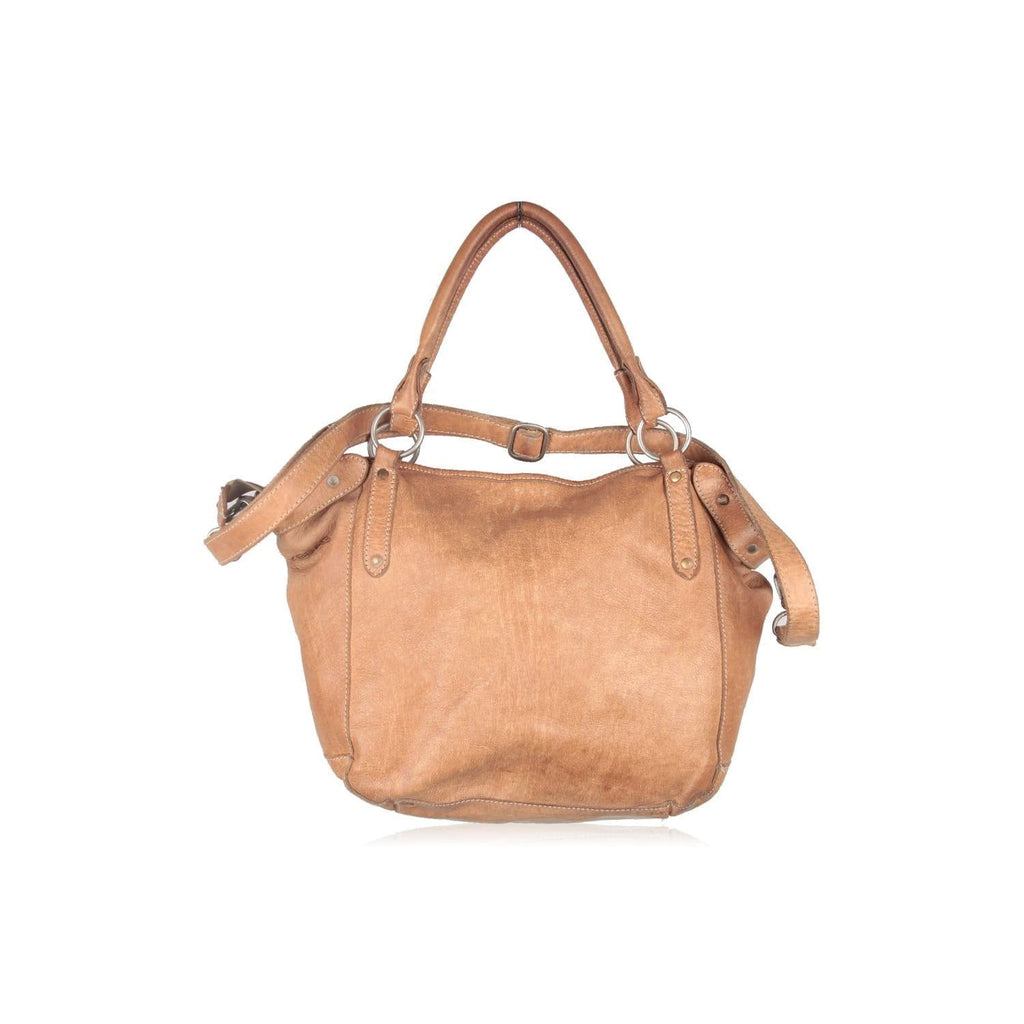 Cowboysbag Tan Leather Tote Urban Shoulder Bag With Strap Opherty & Ciocci
