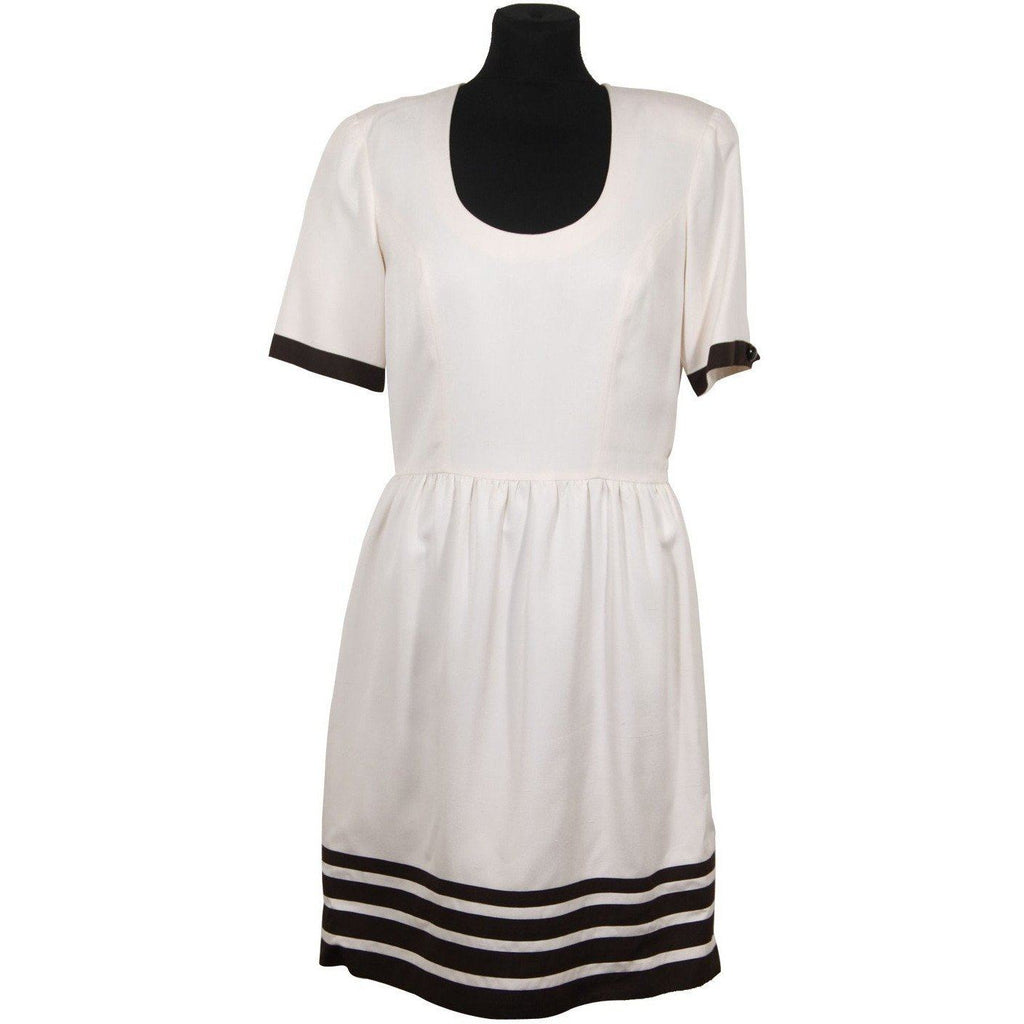 Creazioni Antonietta Ermini Vintage White Skater Dress Short Sleeve Opherty & Ciocci