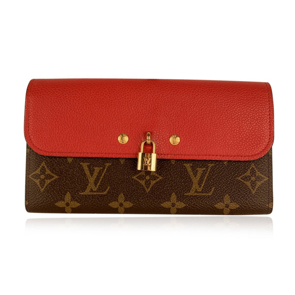 Louis Vuitton Monogram Canvas and Red Leather Venus Continental Wallet