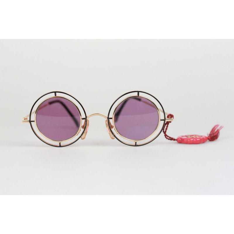 Rare Round Sunglasses Mod. MTC 2 Gold Plated 24K